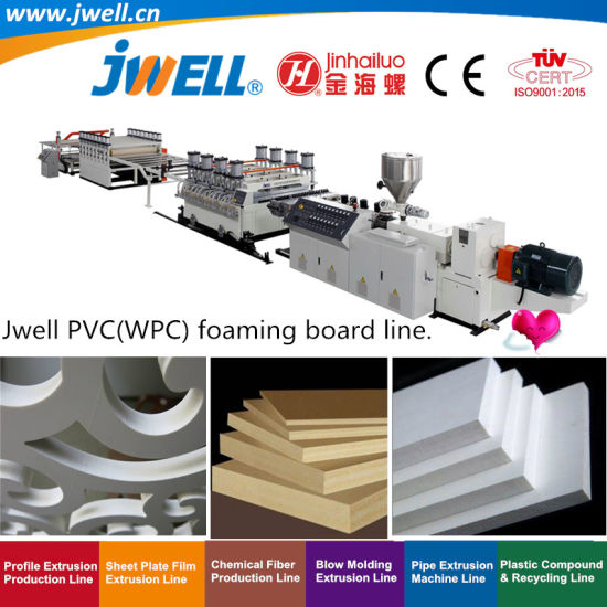Jwell- PVC WPC Plastic Foaming Board Recycling Agricultural Making Extrusion Machine Used in Furniture Door Production Advertising Business