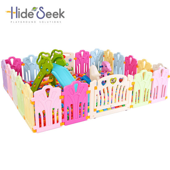 Cheap Plastic Baby Play Fence Without Balls and Slide Set (HBS17072A)