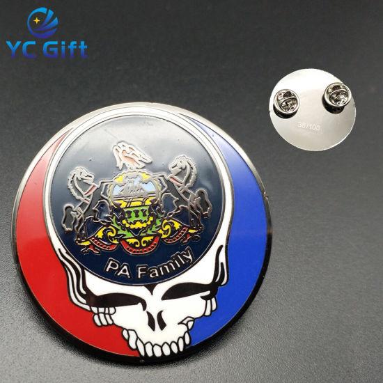 Low Price Customized Metal 2D Pin Badge for Souvenir Gift (BG01)