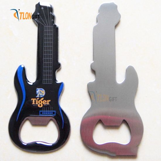 Creative Stainless Steel Guitar Shape Patch Empty Platinum Bottle Opener