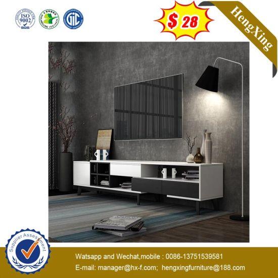 Custom Design Wholesale Wood White TV Stand with Plastic TV Storage (IMG-6689)