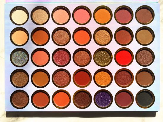 Private Label 35 Colors Eyeshadow Palette Hologram 35 Professional Eye Shadow Makeup Palette