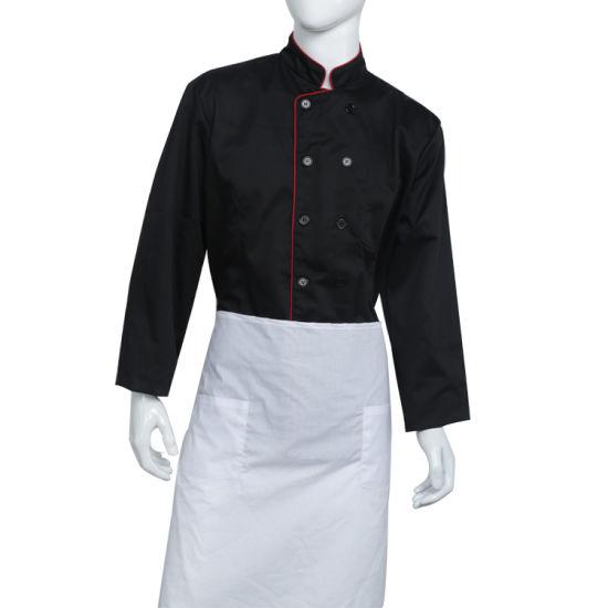 100% Cotton Work Uniform Chef Jacket Suit with Apron