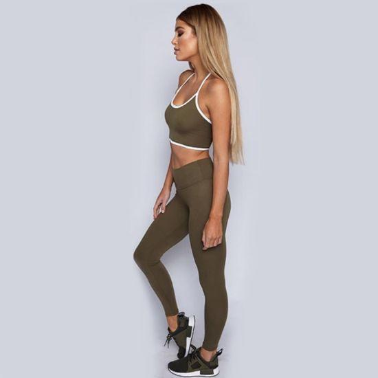 Backless Strap Vest Woman Running Gym Yoga Sportswear Set