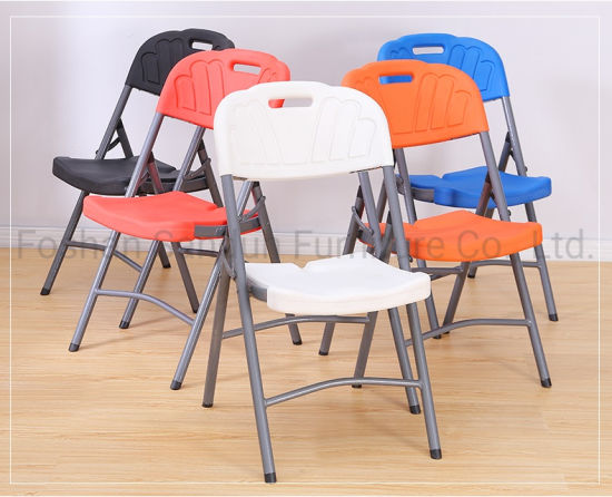 China Factory Wholesale for Project Use HDPE Plastic Folding Dining Chair