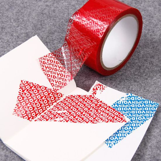 Custom Printing Packaging Seal Tamper Evident Tape Self Adhesive Security Packaging Tapes Anti-counterfeit Label Void Open Seals Pretty And Colorful Office & School Supplies Tapes, Adhesives & Fasteners