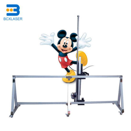 Bcx Digital Canvas Art Direct Image Printing Machine Price 3D Wallpapers Automatic Vertical Wall Printer
