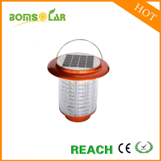 Outdoor Hanging Solar Mosquito Killer Lamp, Solar Powered Insect Killer