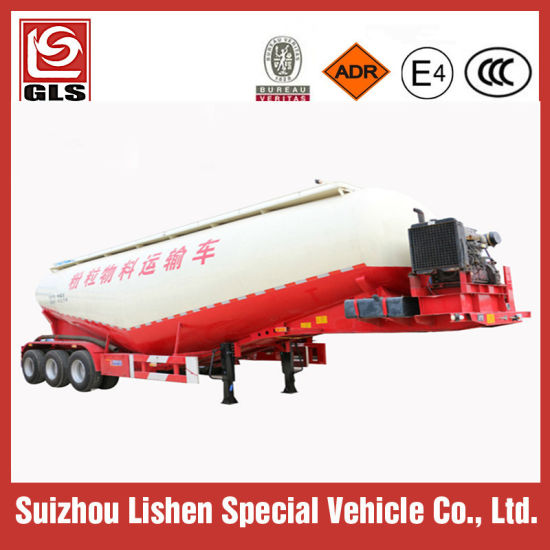 3 Axle 45m3 Bulk Cement Tank Truck 60ton Bulk Powder Tanker Semi Trailer pictures & photos