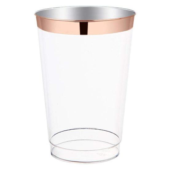 683d4b173d4 China Disposable 12 Oz Rose Gold Rim Plastic Cups - China Aviation ...
