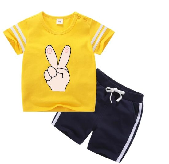 Long Sleeves Children Clothes Gril Round Neck T-Shirt