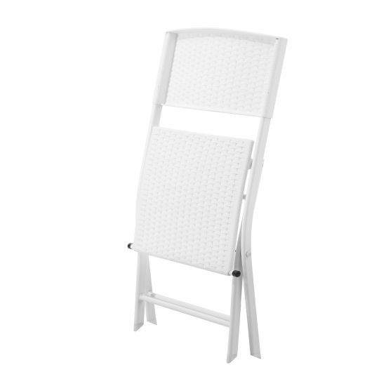 Garden Wholesale PP Modern White Chair with Metal Legs Plastic Chairs