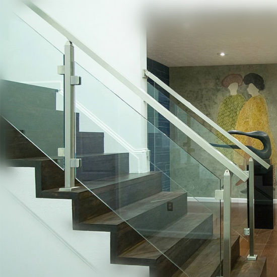 European Design Stainless Steel Interior Glass Railing Systems