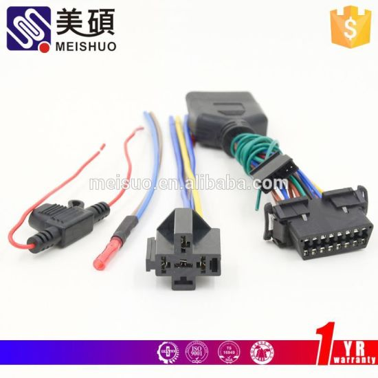 china meishuo custom accessories alpine 16 pin car audio wire harness -  china relay socket, auto relay socket  zhejiang meishuo electric technology co., ltd.