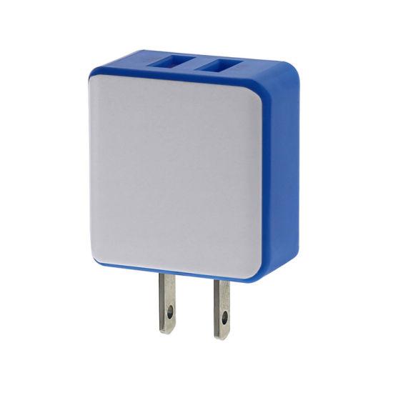China Factory EU/Us Plug Wall Charger 5V 2.4A Travel Adapter