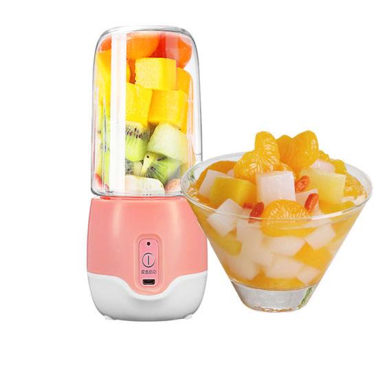 Zhongshan Orange Juicer Machine Mini 10oz Glass Juicer Cup Fruit Blender and Mixer Juicer 300ml Fruit Cups Portable Blender
