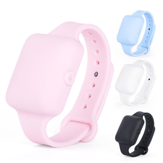 Adult/Kids/Female/Male Durable Portable/Handy Siliocne Squeeze Sanitizer Wristband Hand Dispenser