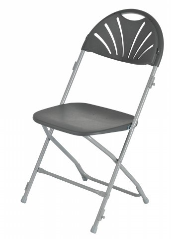 Grey Folding Chairs Wholesale/Plastic Fan Back Folding Chair