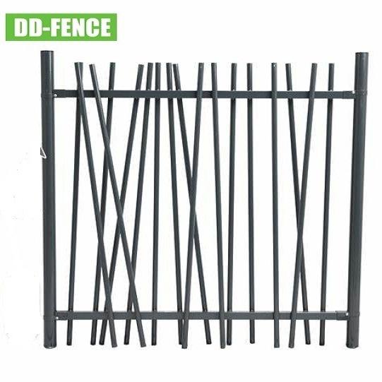 Random Welded Stem Steel Bar Landscaping Fence for Front Yard Garden Home Villa School Playground Jungle Boundary