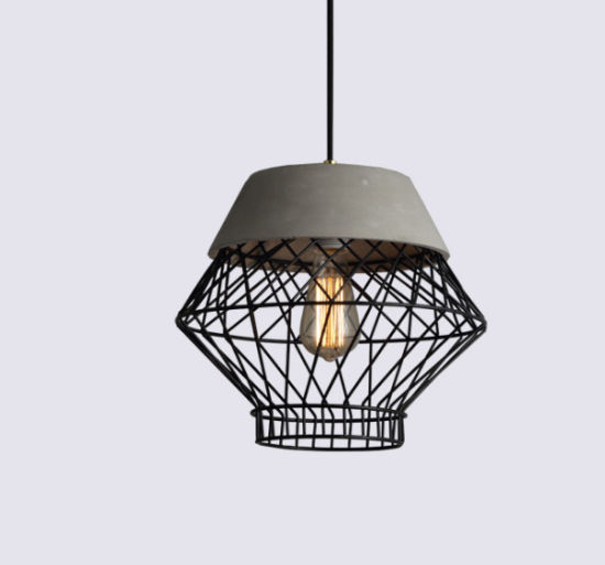 Factory Direct Sale Nordic Designer Simple Personality Bar Table Creative Cement Barbed Wire Hanging Drop Light