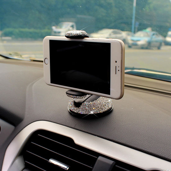 LG /& All Smartphone Black Samsung Pixel Jascaela Bling Rhinestone Universal Car Phone Mount Strong Sticky Dashboard Air Vent 360 Degree Rotation Adjustable Crystal Stand Holder for iPhone