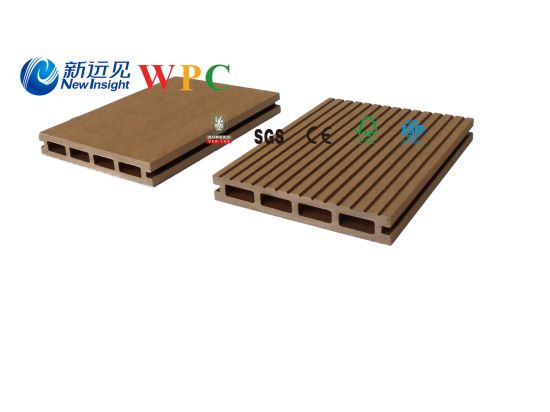 146*23mm Wood Plastic Composite Decking with CE, Fsg& SGS, Certificate