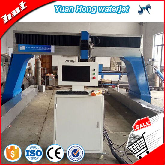 3 Axis Cnc Water Jet Cutting Machine For Stone Cutting Marble Cutting