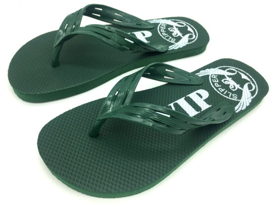 PE VIP Printing Flip Flops for Men pictures & photos