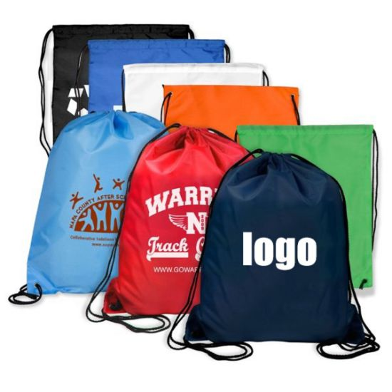 2019 New Products Custom Printed Full Color Polyester Dust Bag Gym Bag