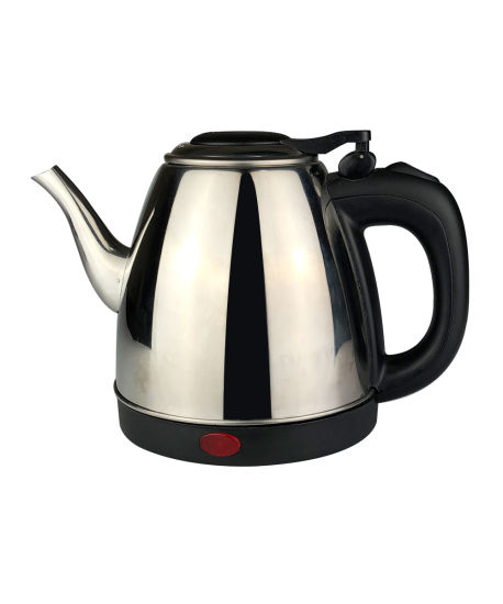 Long Spout Stainless Steel Electronic Kettle with Concealed Heating Element 1.0L