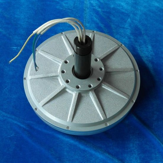 Pmg320 0.5kw 24VDC 200rpm Vertical Axis Wind Turbine Disc Coreless Low Rpm Three Phase Permanent Magnet Generator pictures & photos