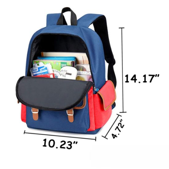 Children School Bags Print Canvas Bags Shoulder Bags Outdoor Travel Backpack