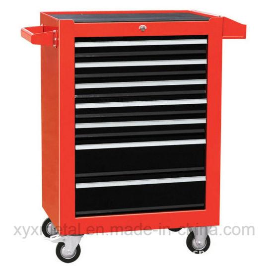 7 Drawers Doors Garage Workbench Metal Tools Cabinet with Wheels