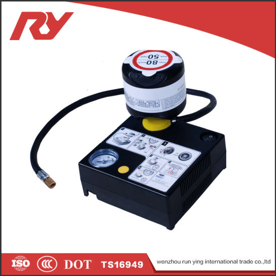 China 12V Automatic Mini Car Tire Inflator with RoHS Certification ...