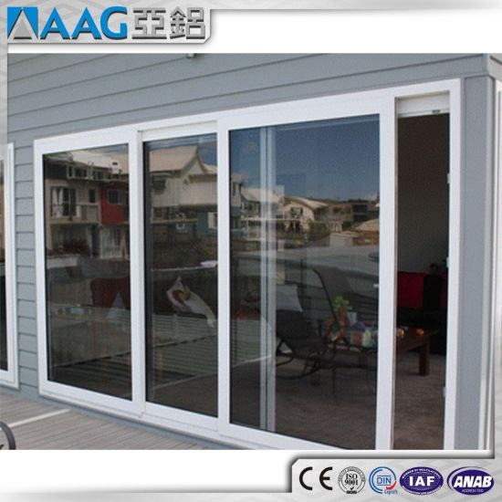 China Whiteblackgraybrown Aluminum Frame Sliding Glass Door