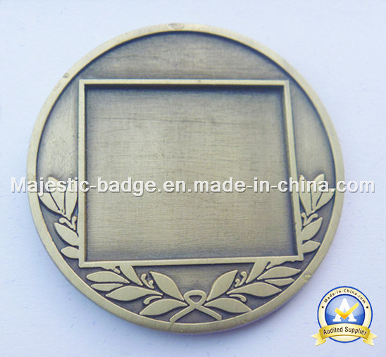Zinc Die Cast Antique Plated Soft Enamel Epoxy Texture Coin pictures & photos