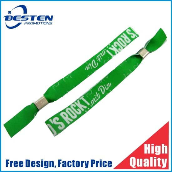 Custom Rubber/PVC/Silicone/Vinyl/Tyvek/Sports /Printed Woven Wristband