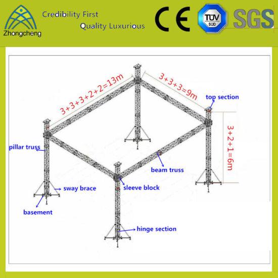 Truss System Design Professional Aluminum Lighting Stage Spigot Truss
