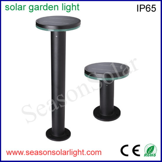 Factory Energy Saving Light Alu. Material Outdoor LED Solar Garden Light with LiFePO4 Battery & 5W Solar Panel