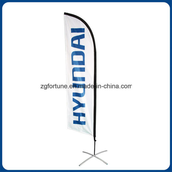 Hot Sale Outdoor Promotion Custom Advertising Flying Banner Feather Flag Beach Flag