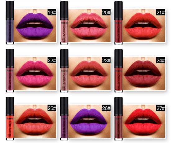 Matte Not Fade Lip Gloss Long-Lasting Makeup Liquid Lipstick