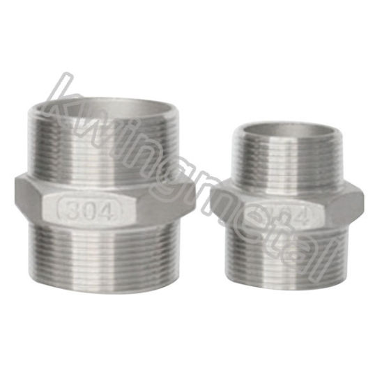Stainless Steel Hex Nipple Threaded Fittings pictures & photos