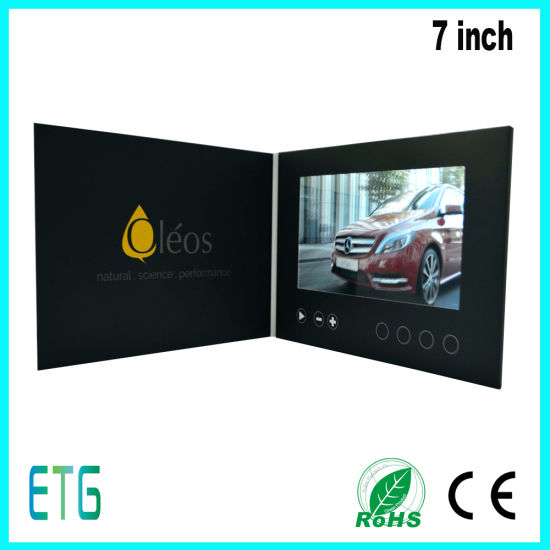 7 Inch HD/IPS Screen Video LCD Advertising Greeting Card