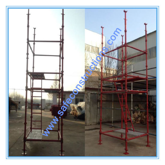 Ce Passed Painted Cuplock Scaffolding for Construction. pictures & photos