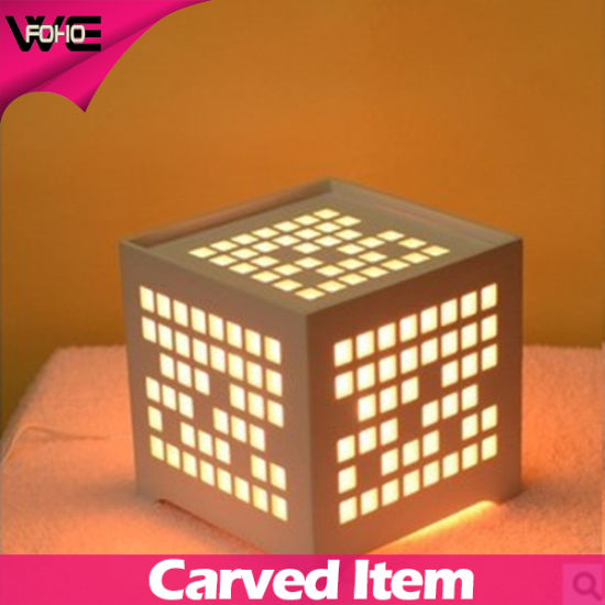 Beautifully Designed Cheap Plastic-Wooden LED Table Lamp pictures & photos