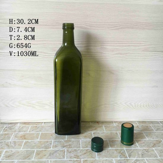 FDA Wholesale Armber Clear 250ml 500ml 1000ml Glass Olive Oil Bottle pictures & photos