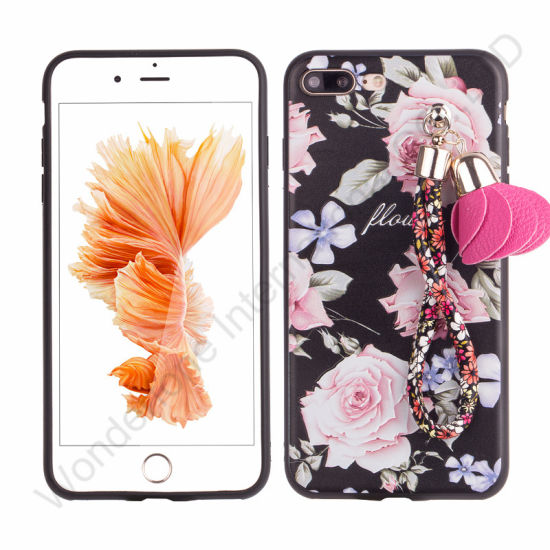 Colorful TPU Cover Case with Wrist String for iPhone 6