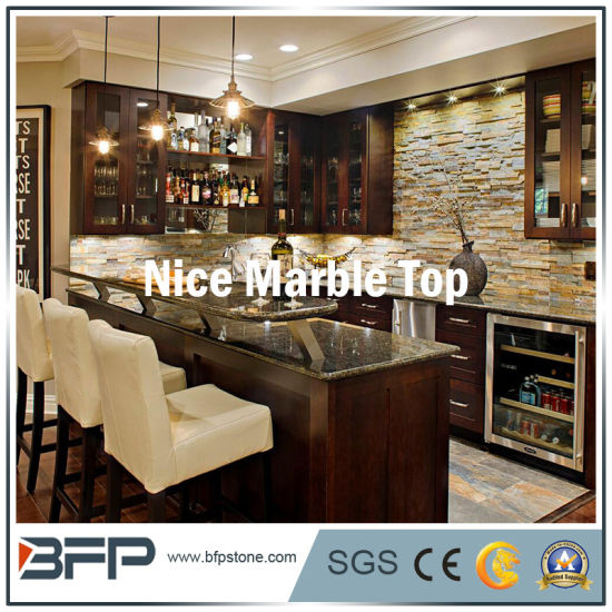 Customized Marble Granite Quartz Stone For Home Hotel Bar Countertops In Public Area