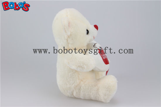 Cuddly Bear Toys Softest Plush Material Teddy Bear with Red Love Heart Pillow pictures & photos