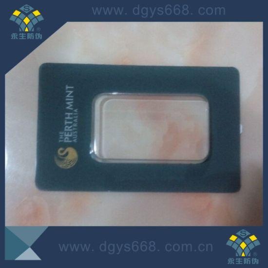 China Hot Stamping Anti Fake Gold Coin PVC Plastic Card
